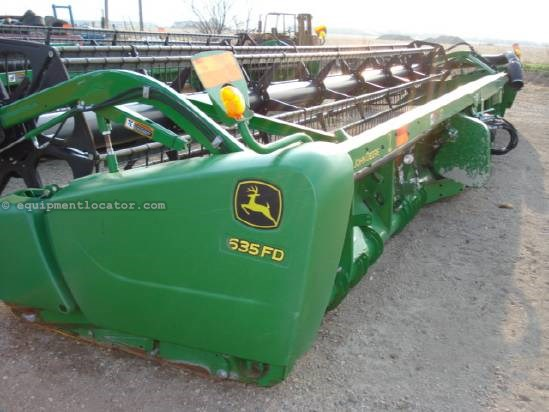 2012 John Deere 635FD - 35 ft, Air Bar (9660,9760,9860,9770,9870) Header-Draper For Sale