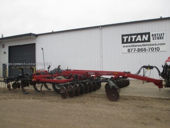 2008 Case IH 730C, 7 Shank, Concave Disk Gang, Rear Tine Harrow Rippers For Sale