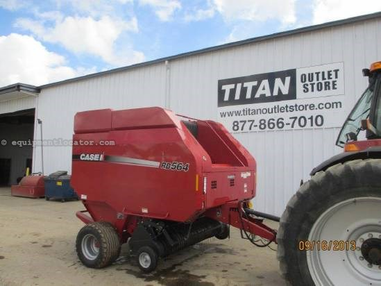 2011 Case IH RB564, 2994 Bales, Kicker, Monitor, Counter Baler For Sale