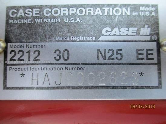 2002 Case IH 2212, 12R30,(8010/7120/8120), FT, HHC, Knife Rolls Header-Corn For Sale