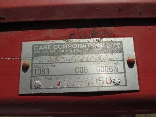 1996 Case 1083, 8R30, FT, HHC, Knife Rolls, 1680/2166/2388 Header-Corn For Sale