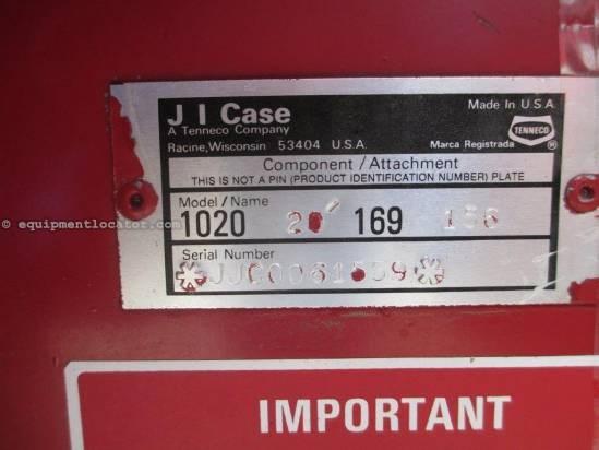 1989 Case IH 1020, 20', HHC, Fore/Aft,  1660/1666/2166 Header-Flex For Sale