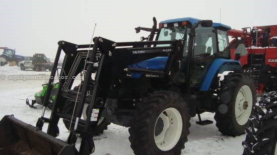 2000 New Holland TM150 - 5678 hrs, Allied Loader Tractor For Sale