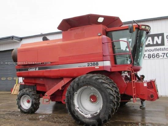 1999 Case IH 2388, 3187 Sep Hr, Spreader, Fore/Aft Combine For Sale