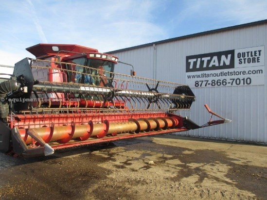2002 Case IH 1020, 25', Air Reel,  2166/2188/2366/2388 Header-Flex For Sale