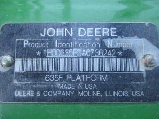2010 John Deere 635,35', 9760/9860/9670/9770/9870,Full Finger  Header-Flex For Sale