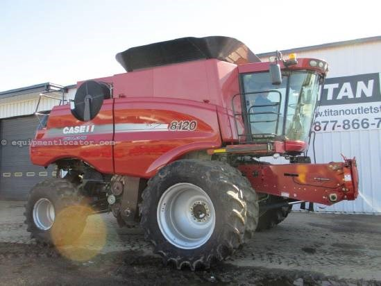 2009 Case IH AF8120, 740 Sep Hr, FT, RT, Chopper  Combine For Sale