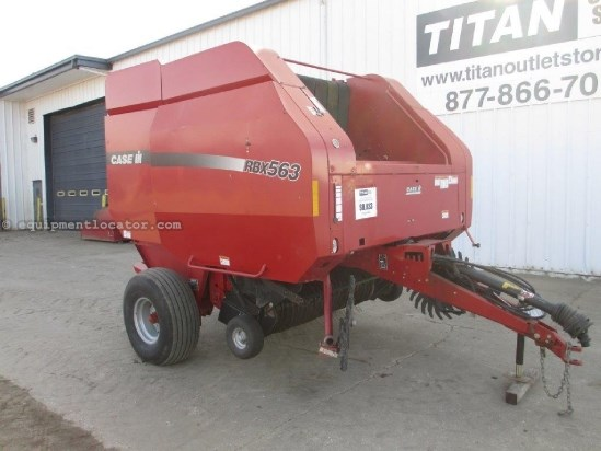 2006 Case IH RBX563, Monitor, Counter, 1000 PTO, Kicker Baler-Round For Sale