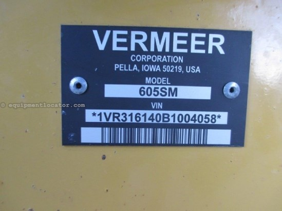 2010 Vermeer 605SM,Belt,Mega Tooth,Hyd PU Lift/Tension,Net Wrap Baler-Round For Sale