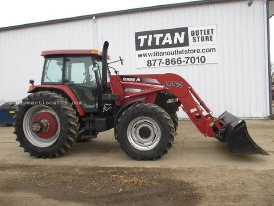 "2004 Case IH MXM130, 5422 Hr 95"" Bucket, Duals, 3 Pt, 4 Remotes Tractor For Sale"