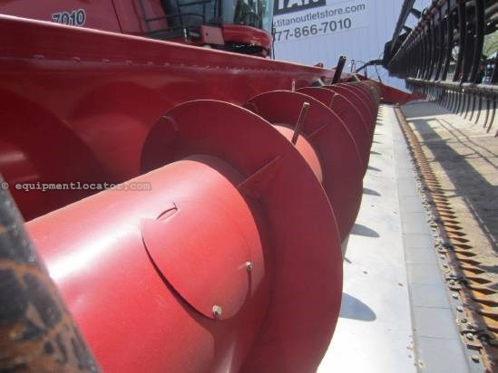 2008 Case IH 2020, 35', (7088/7010/8010/7120/8120), Poly Skids Header-Flex For Sale