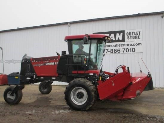 2009 Case IH WD1903, 16', Steel on Steel Conditioner Windrower-Self Propelled For Sale