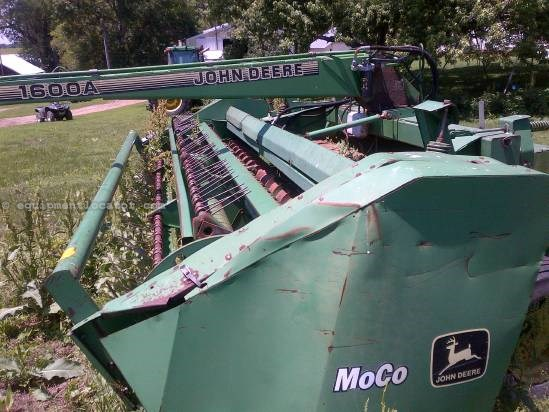 1995 John Deere 1600A, 14Ft,Hi Float Tires, Stub Guards,Cond Rolls Mower Conditioner For Sale