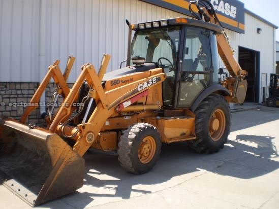 2003 Case 580SM, 4WD, Cab W/ Heat, Ride Control, E-Hoe Loader Backhoe For Sale