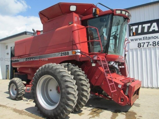 1996 Case IH 2188, 2060 Sep Hr, FT, RT, Rotary Spreader Combine For Sale