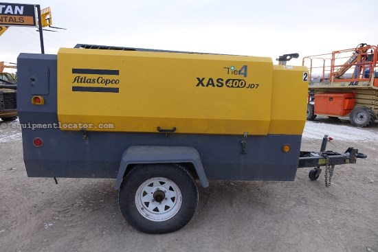 2013 Atlas Copco XAS400, JD 115HP Tier 4 Diesel Engine Air Compressor For Sale
