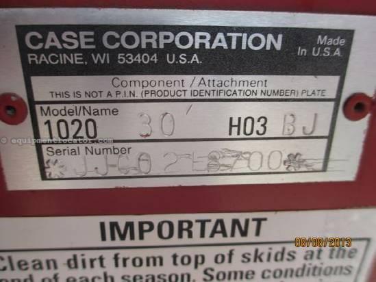 1995 Case IH 1020, 30', (2188/2366/2388), FT, Poly, HHC Header-Flex For Sale