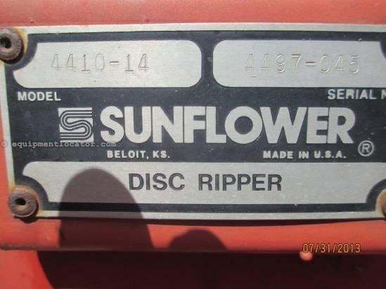 1998 Sunflower 4410,14', Rigid Fold, Center Tandems Disc Chisel For Sale