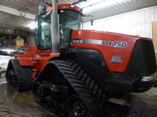 "2005 Case IH STX450Q - 3503 hrs, 30"", 4 hyd Tractor For Sale"