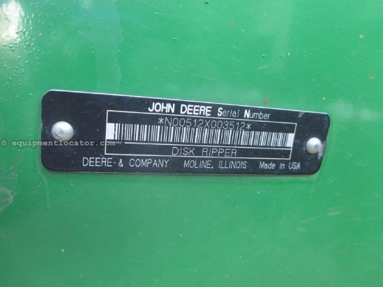 2005 John Deere 512, 7 Shank, 17', Cushion Gang Disk Ripper For Sale