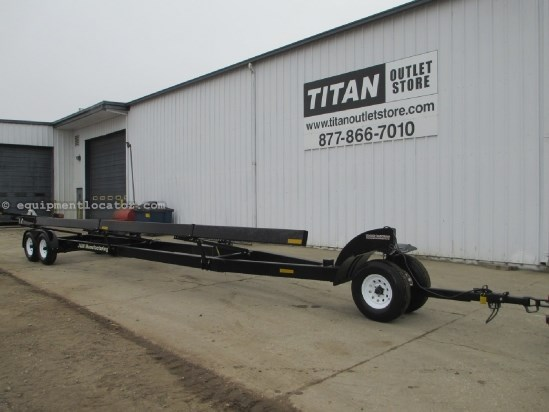 J & M 6000, 32 Ft, Single Head Cart, Adjustable Hitch Header Trailer For Sale