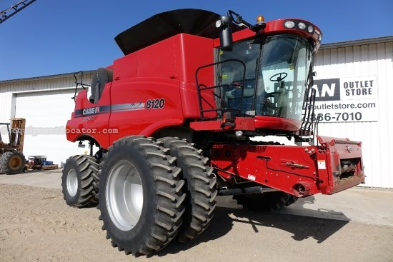 2009 Case IH AFX8120, 931 Sep Hr, FT, RT, Chopper, Spreader Combine For Sale