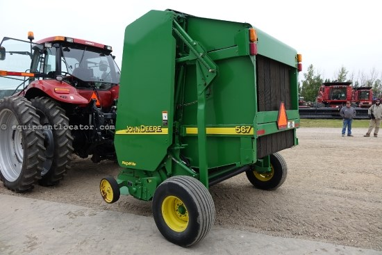 2003 John Deere 567, Belt Type, Mega Tooth P/U, Kicker, Monitor Baler For Sale