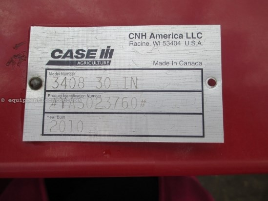 2011 Case IH 3408, 8R30, Low Profile, Fits 7010/7120/8010/8120 Header-Corn For Sale