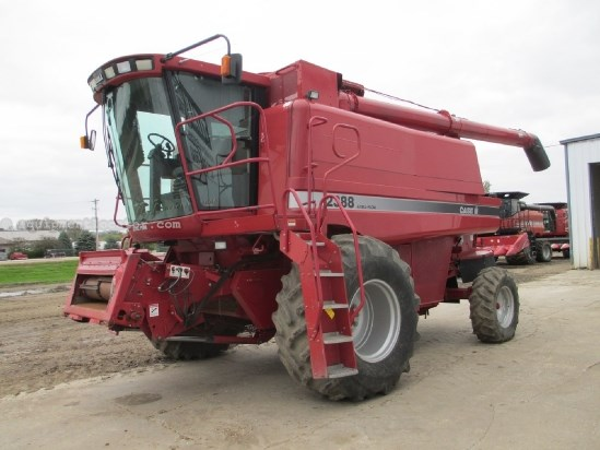 1998 Case IH 2388, 2154 Sep Hours, Spec Rotor, Chopper Combine For Sale