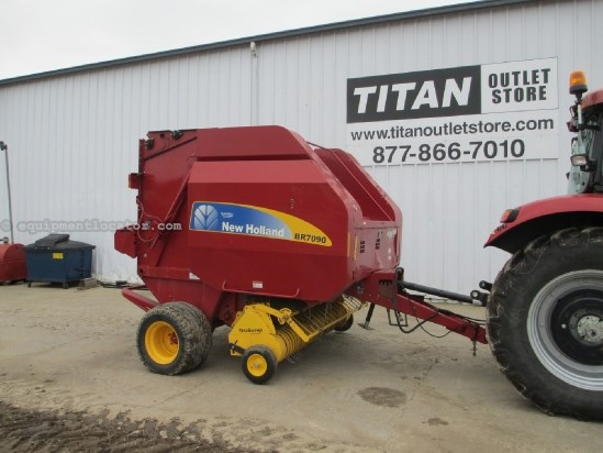 2008 New Holland BR7090, Netwrap, Wide Pickup Baler For Sale