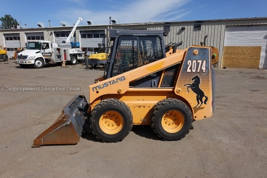 2003 Mustang 2074, 75 HP, 2250 LB Rated Capacity, Cab/Air Skid Steer For Sale