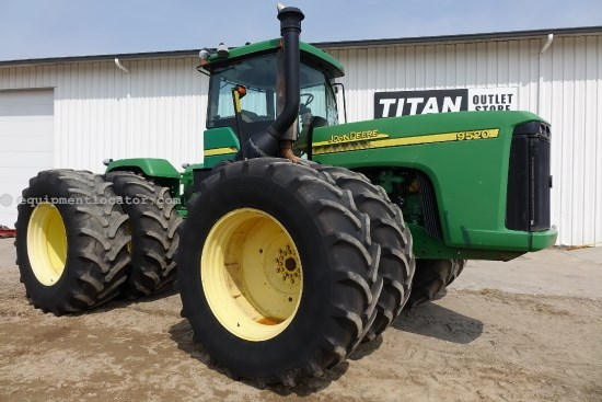 2002 John Deere 9520 - 4153 hrs, 710R42 Dls, 5 hyd, PowerShift Tractor For Sale