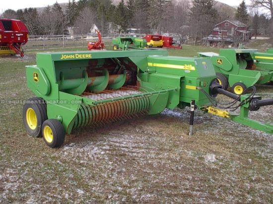 Baler-Square For Sale:  2008 John Deere 348