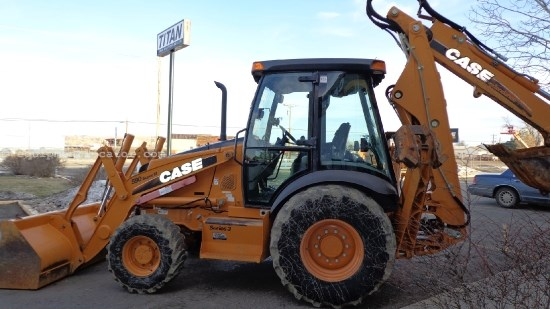 2008 Case 590SM,4x4, E-Hoe, Cab/Air  Loader Backhoe For Sale