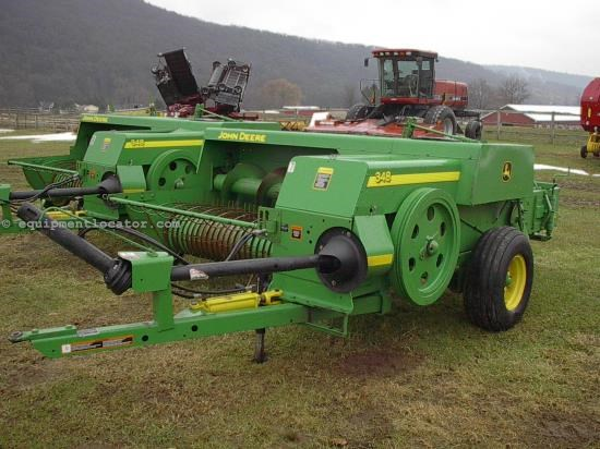 Baler-Square For Sale:  2007 John Deere 348