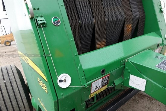 2012 John Deere 568, 5X6, FRONT ROLLER, WIDE PICK UP, AUTO WRAP Baler For Sale