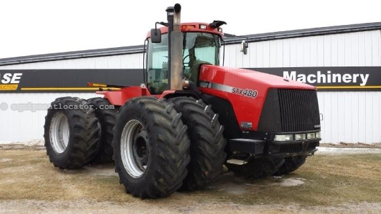 2006 Case IH STX480CE, 4571 Hr, No PTO, Wheel Weights, Dlx Cab Tractor For Sale