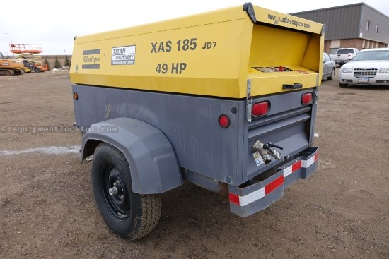 2011 Atlas Copco XAS185PE, Steel Disc Tires, 90% remaining Air Compressor For Sale