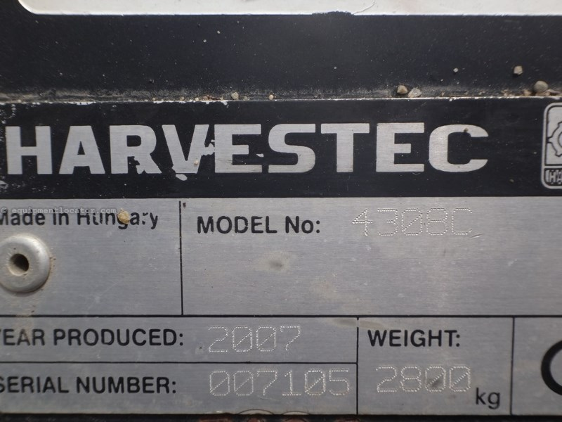 2007 Harvest Tech 4308C, 8R30, HHC, Fluted Rolls Header-Corn For Sale