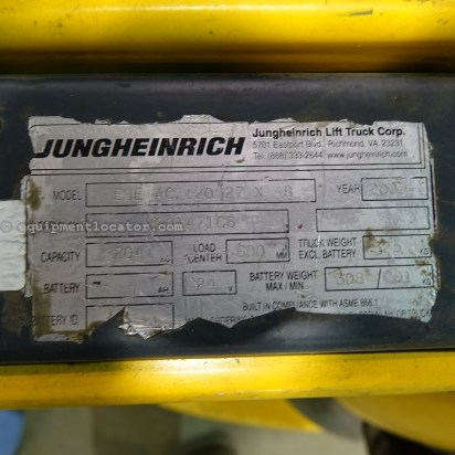 2005 Jungheinrich EJE120, 24 Volt, 3 Phase, 4500 lb Capacity  Walkie For Sale