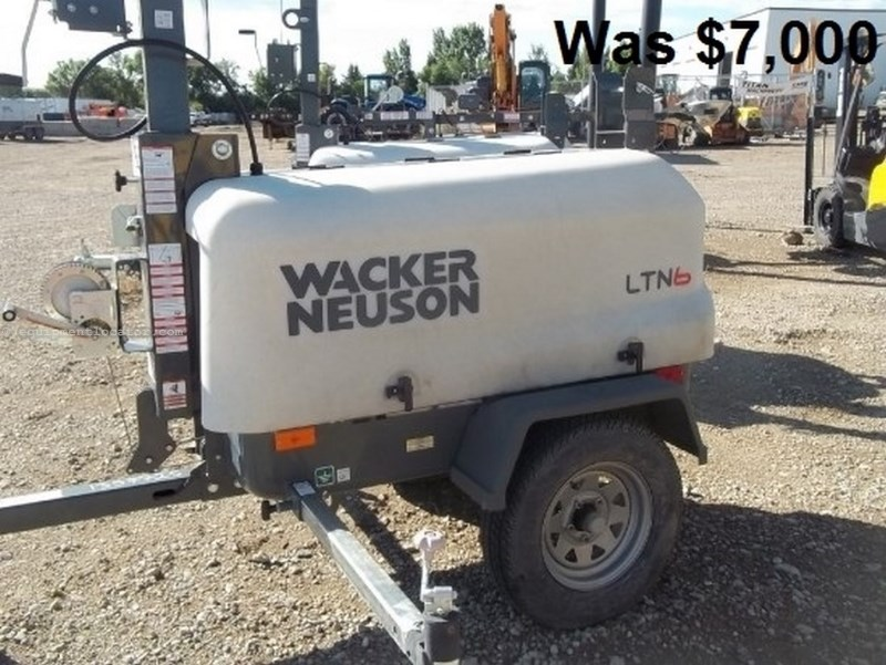 2012 Wacker LTN6L, 1289 Hr, 67 Hr Runtime, Diesel, 30' Mast Ht Light Tower For Sale