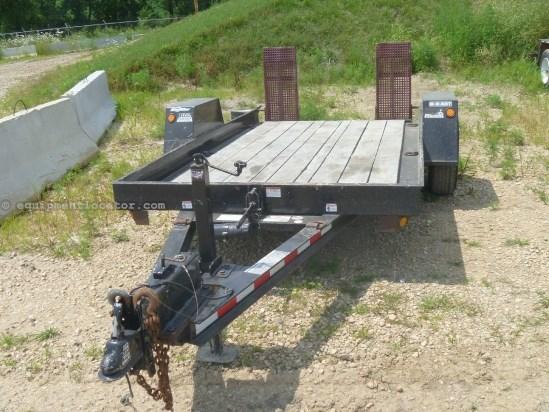 2011 Big Tow Trailers B3D, 12', Tilt Deck, Ramps Equipment Trailer For Sale