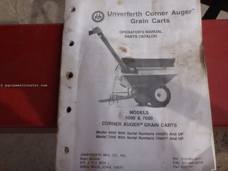 "1996 Unverferth 7000, 1000 PTO, 14"" Auger Diam, Light Pkg,Hyd Fold Grain Cart For Sale"