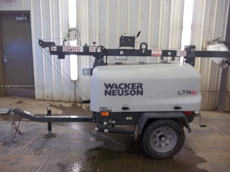 2012 Wacker LTN6L, 2281 Hr, 30' Mast, 32 Gal Tank, Diesel Light Tower For Sale