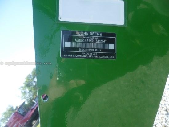 2012 John Deere 512, 17.6', Hyd Sec Fold, 7 Shank, Disc Leveler Disk Ripper For Sale
