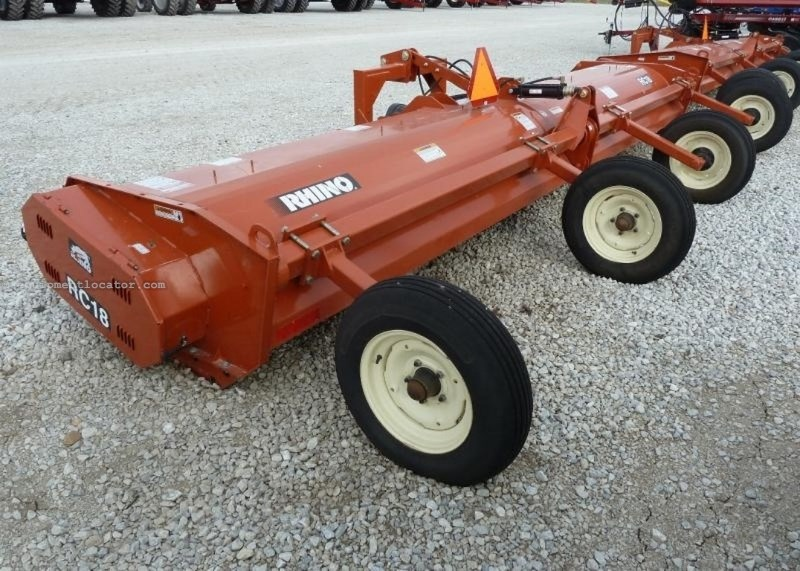 "2009 Rhino RC18, 18', 1000 PTO, 3 Pt, 1.75"" Cylinder Stalk Chopper For Sale"
