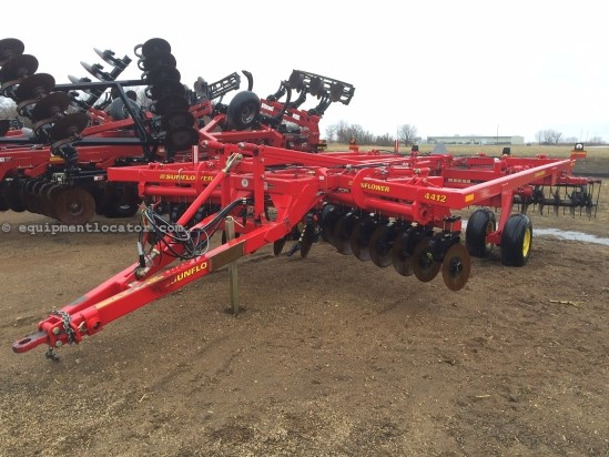 "2012 Sunflower 4412, 13', New Points, 20"" Disc, Coil Tine Harrow Rippers For Sale"