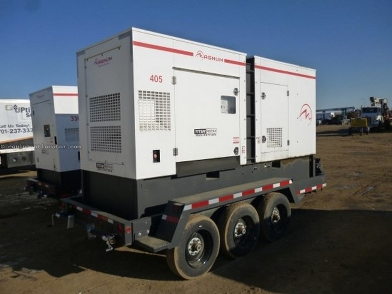2013 Magnum  MMG405, 616 Gal Fuel Tank, JD Tier III Engine Generator Trailer For Sale