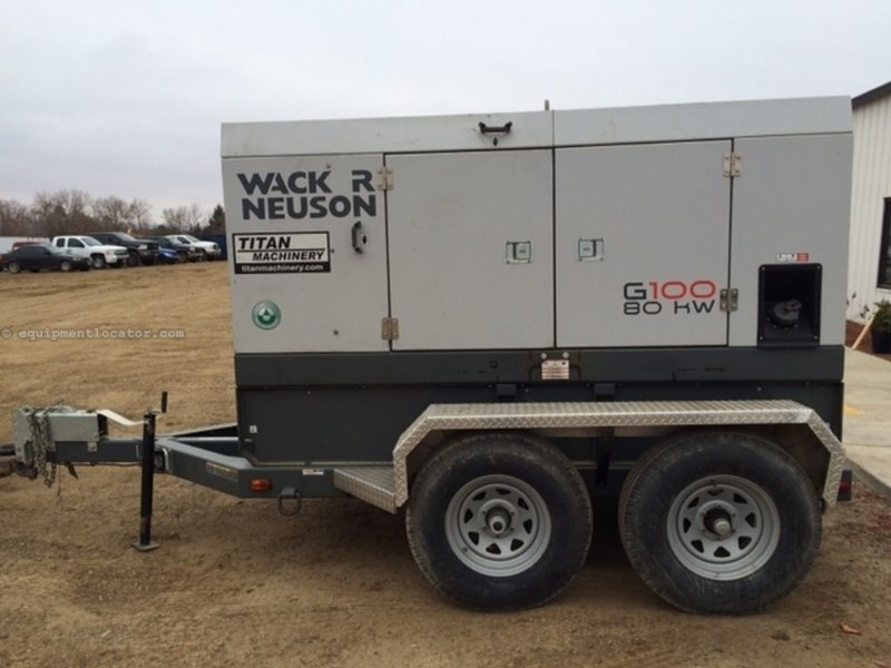 2011 Wacker G100, 7728 Hr, 99 KW Rating, 133 HP Generator For Sale