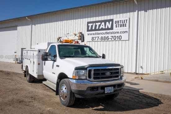 2003 Ford F550, 11' Serv Bx, Crane, Compressor, Gener/Welder Service Truck For Sale
